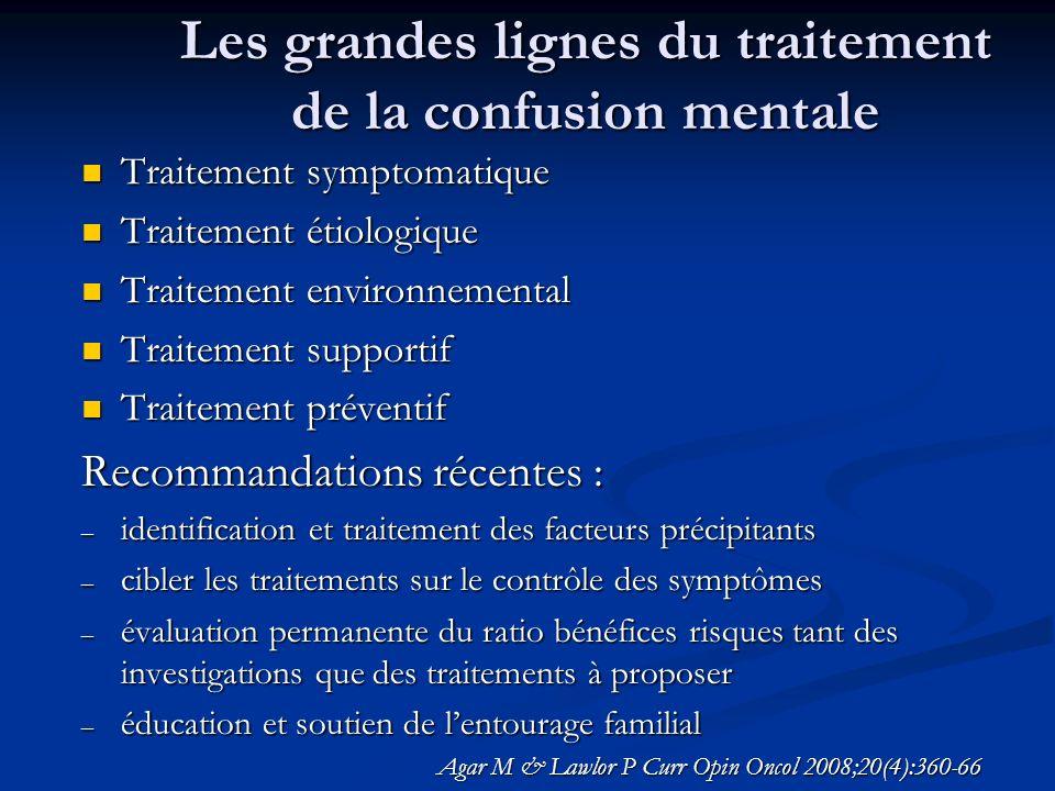 Les grandes lignes du traitement de la confusion mentale