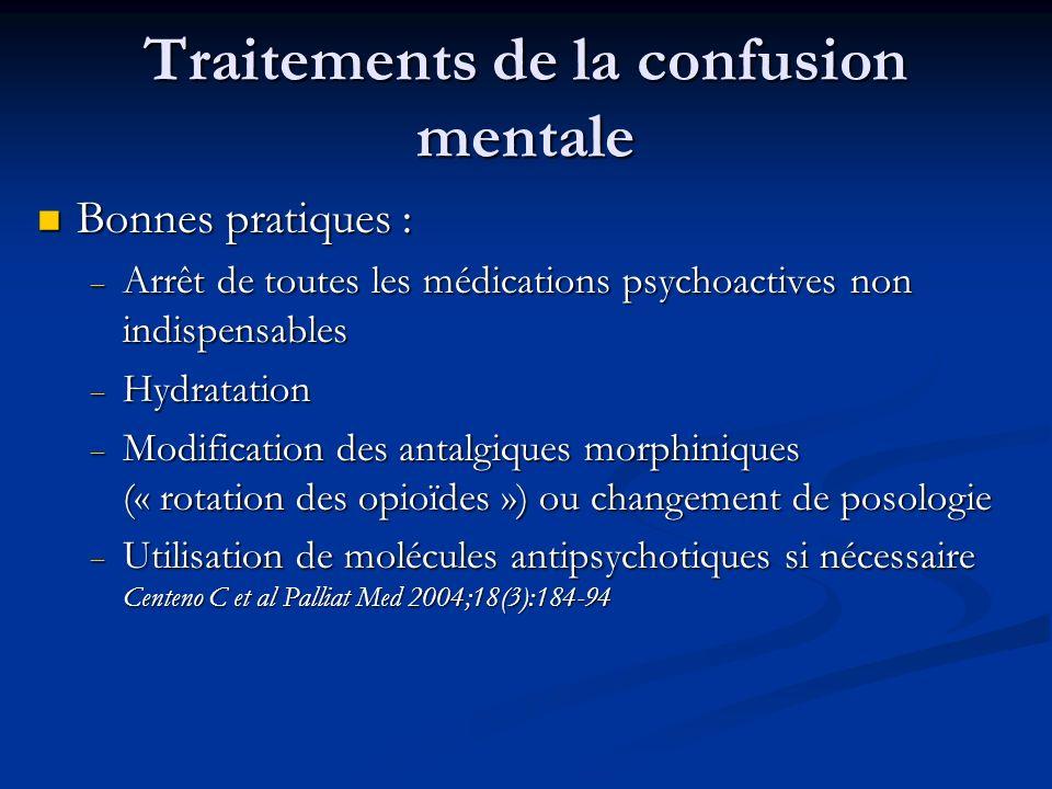 Traitements de la confusion mentale