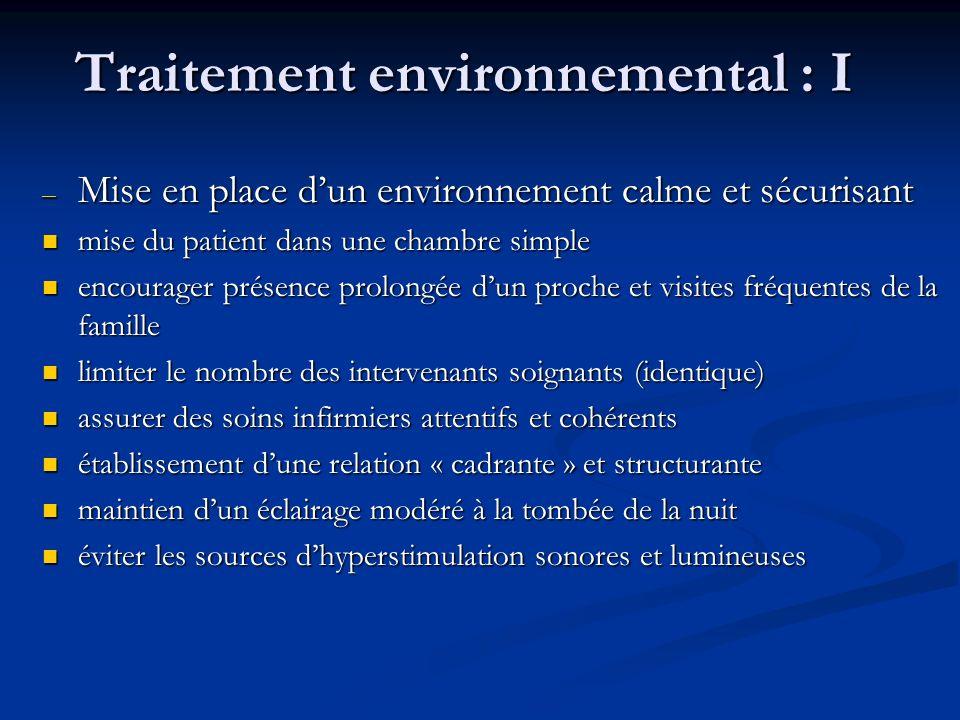 Traitement environnemental : I
