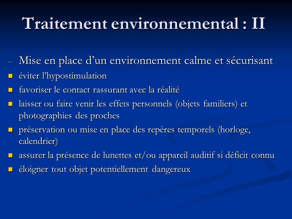 Traitement environnemental : II