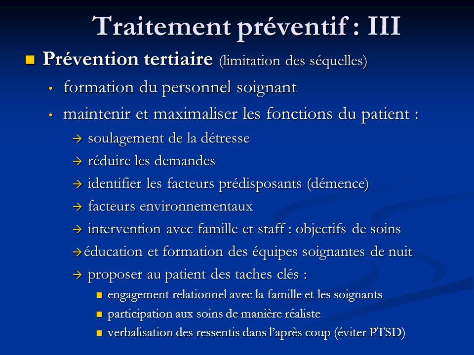 Traitement préventif : III