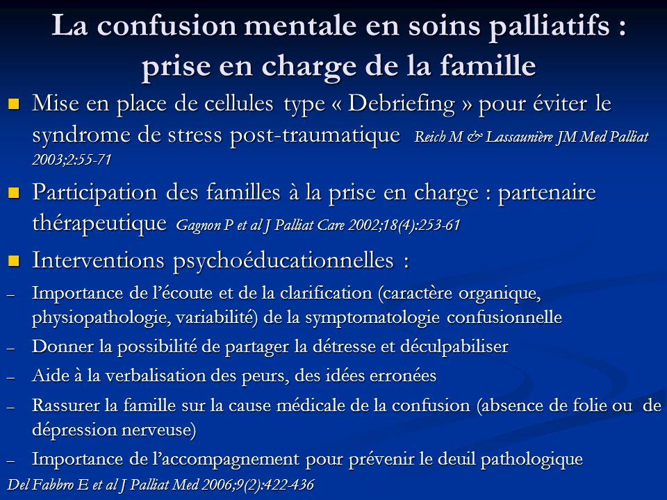 La confusion mentale en soins palliatifs : prise en charge de la famille