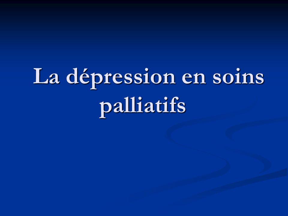 La dépression en soins palliatifs