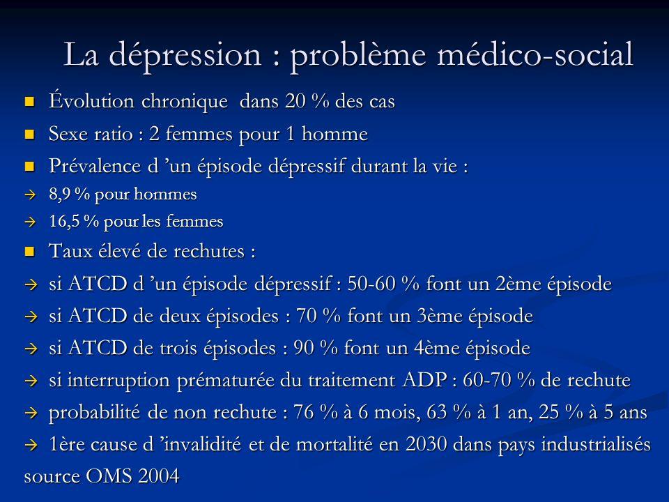 La dépression : problème médico-social