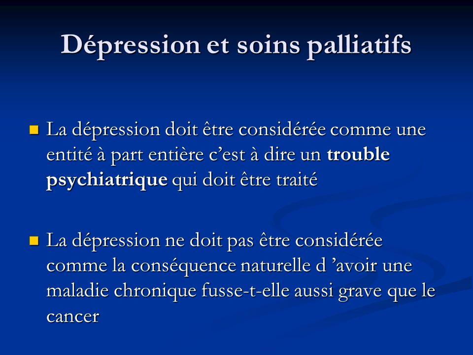 Dépression et soins palliatifs