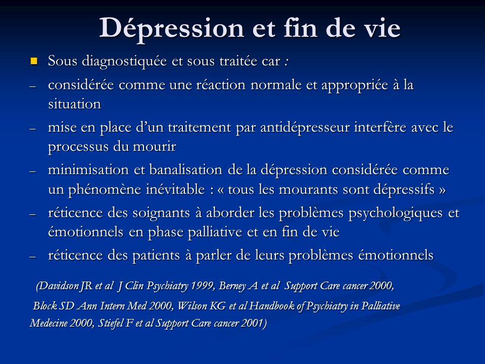 Dépression et fin de vie