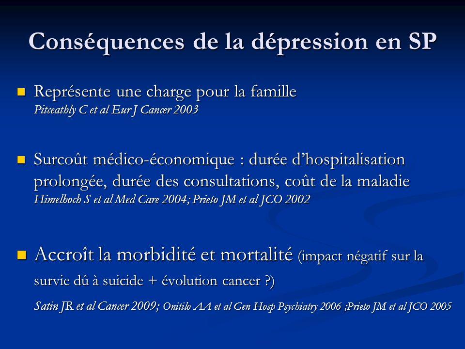 Conséquences de la dépression en SP