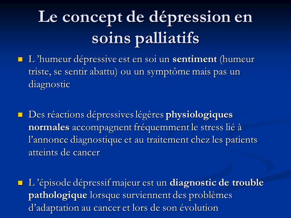 Le concept de dépression en soins palliatifs