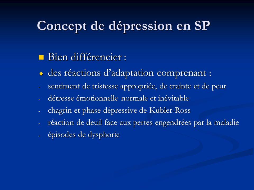 Concept de dépression en SP