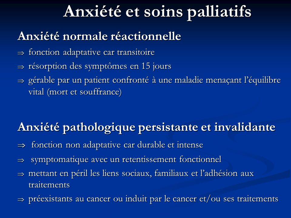Anxiété et soins palliatifs