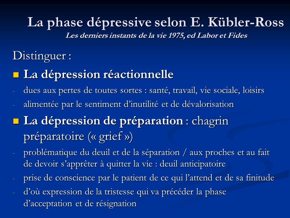 La phase dépressive selon E