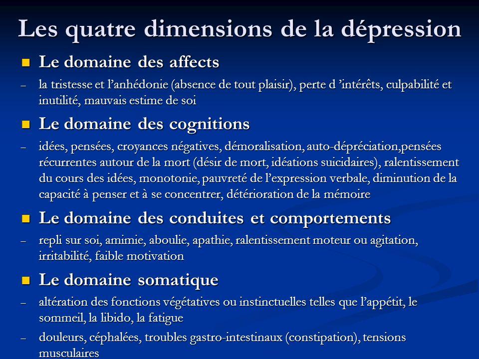 Les quatre dimensions de la dépression