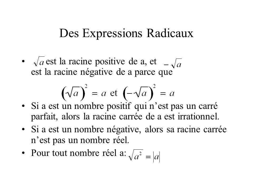 Des Expressions Radicaux