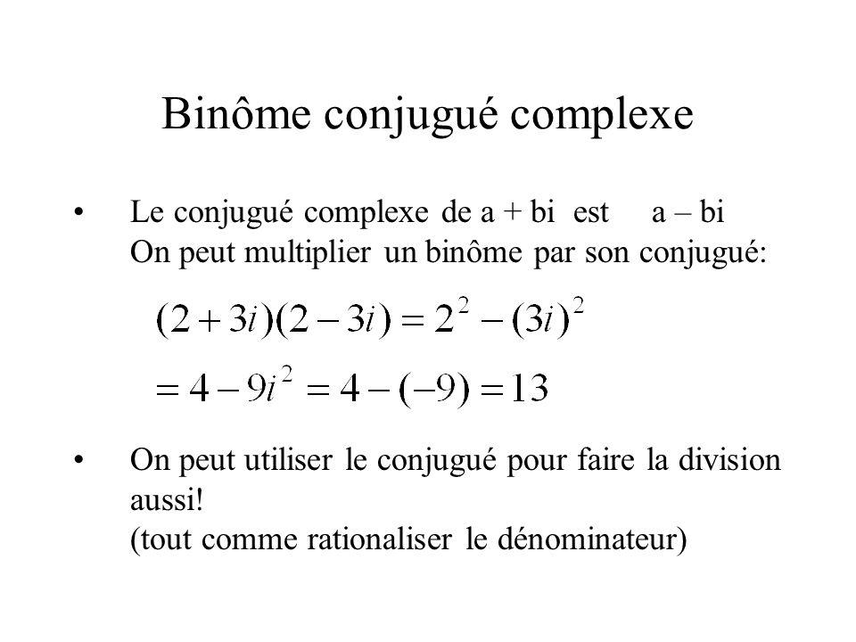 Binôme conjugué complexe