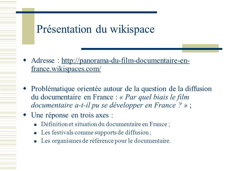 Présentation du wikispace
