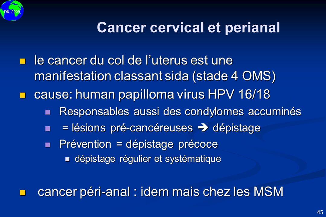Cancer cervical et perianal