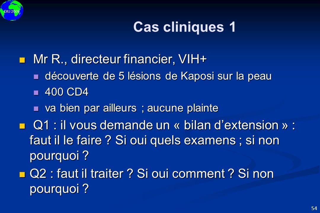 Cas cliniques 1 Mr R., directeur financier, VIH+