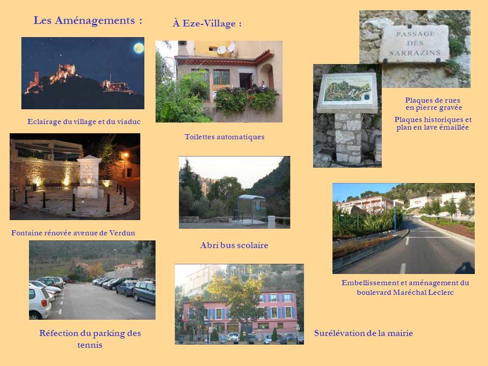 Les Aménagements : À Eze-Village : Abri bus scolaire