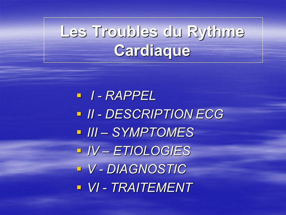 Les Troubles du Rythme Cardiaque
