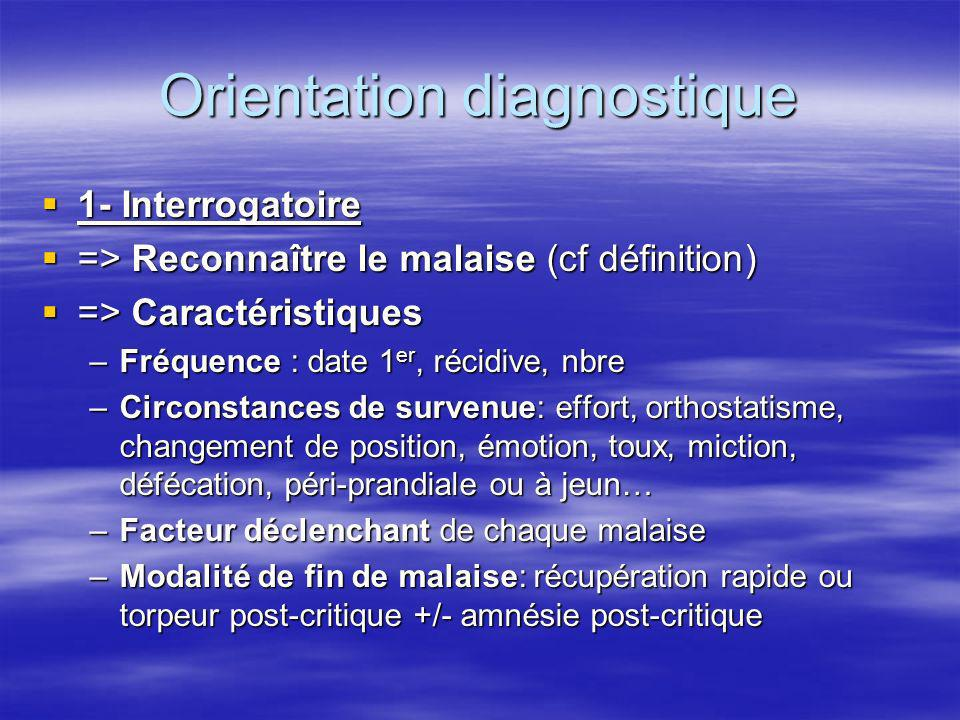 Orientation diagnostique