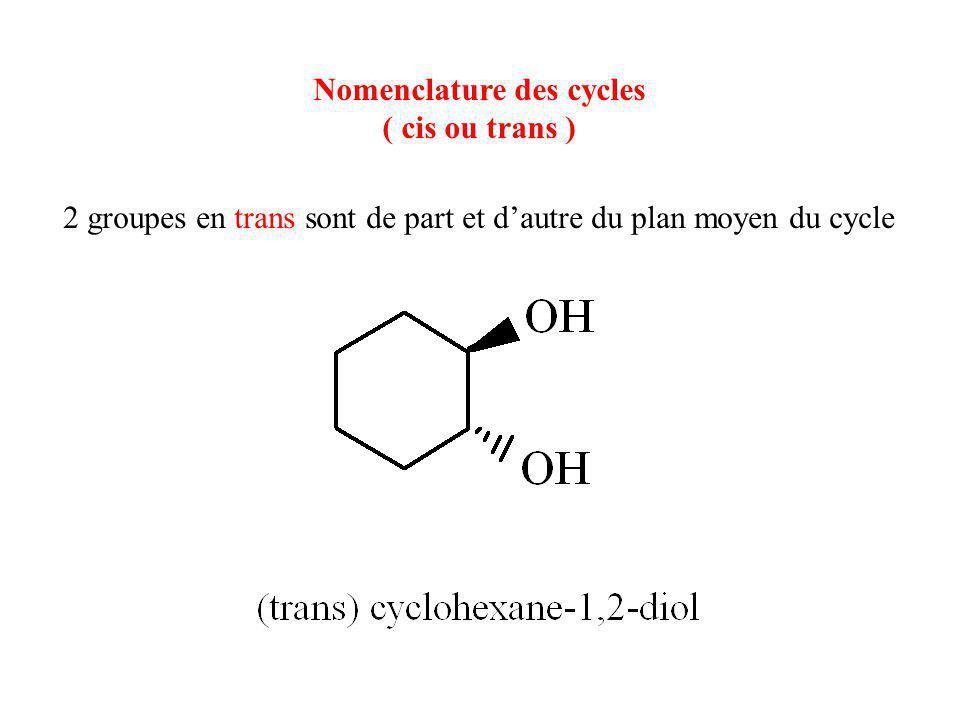 Nomenclature des cycles