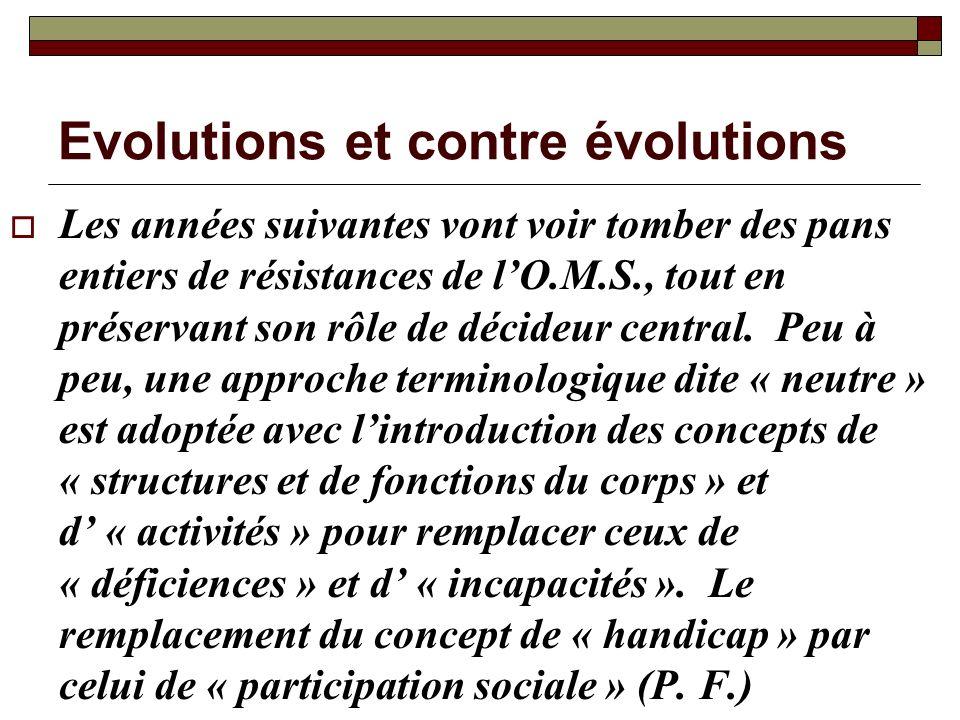 Evolutions et contre évolutions