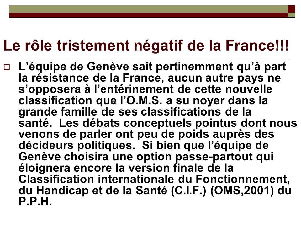 Le rôle tristement négatif de la France!!!
