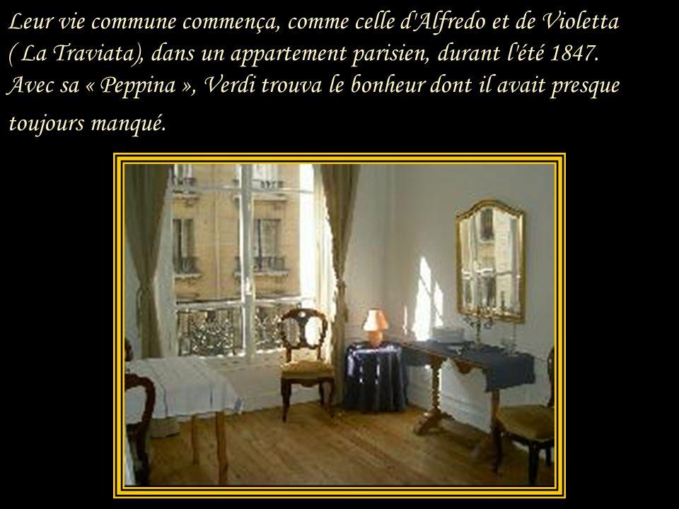 Leur vie commune commença, comme celle d Alfredo et de Violetta ( La Traviata), dans un appartement parisien, durant l été 1847.