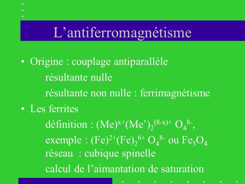 L'antiferromagnétisme