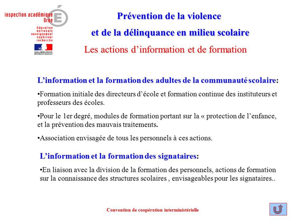 Prévention de la violence et de la délinquance en milieu scolaire