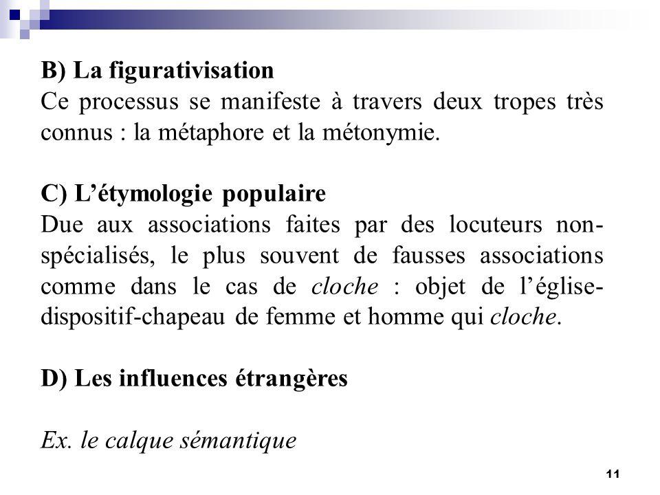 B) La figurativisation