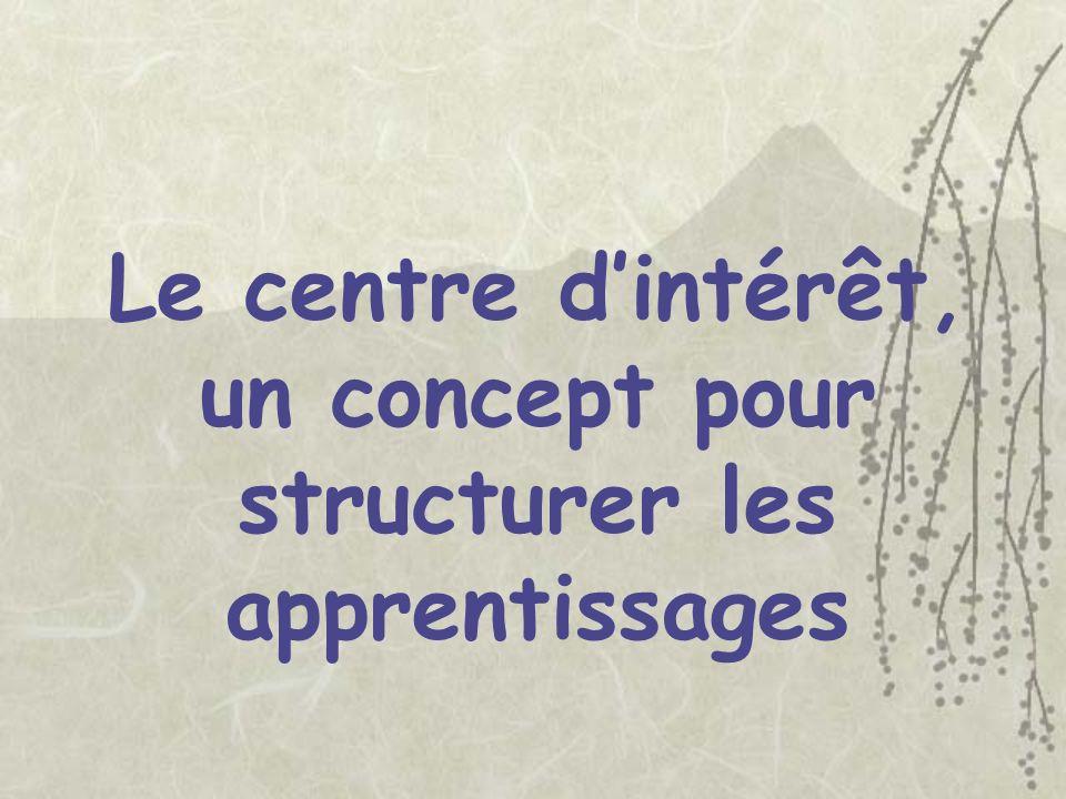 Le centre d'intérêt, un concept pour structurer les apprentissages