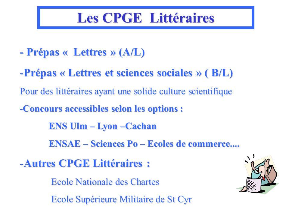 Les CPGE Littéraires - Prépas « Lettres » (A/L)
