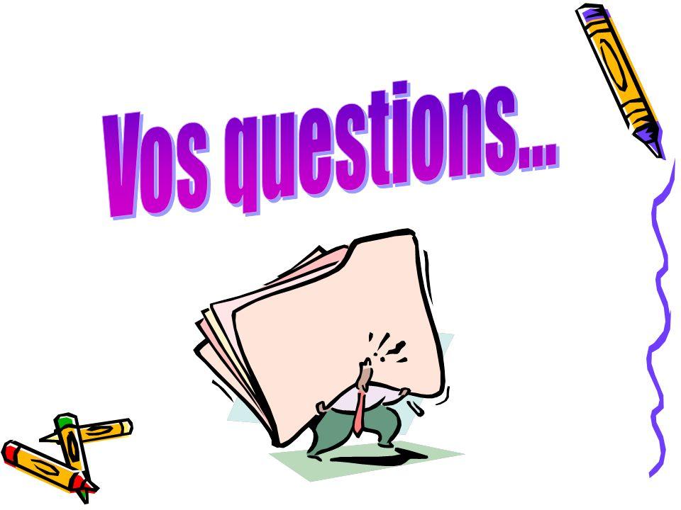 questions Vos questions... 47