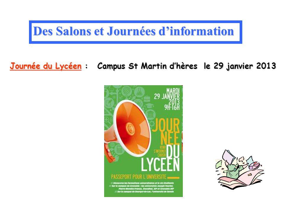 Des Salons et Journées d'information