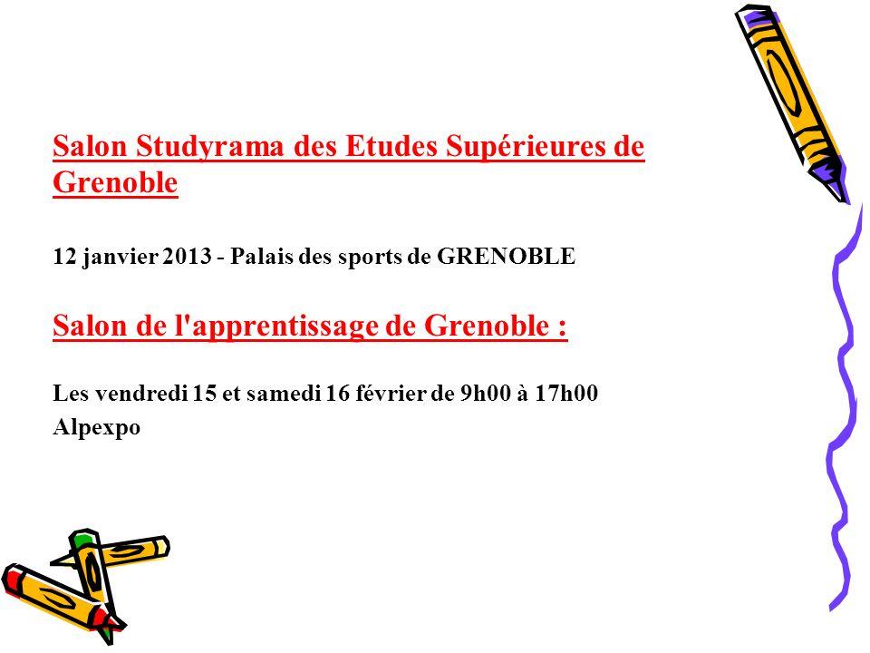 Salon Studyrama des Etudes Supérieures de Grenoble