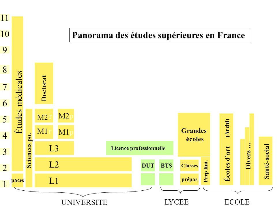 Panorama des études supérieures en France 10