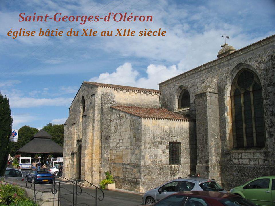 Saint-Georges-d'Oléron église bâtie du XIe au XIIe siècle