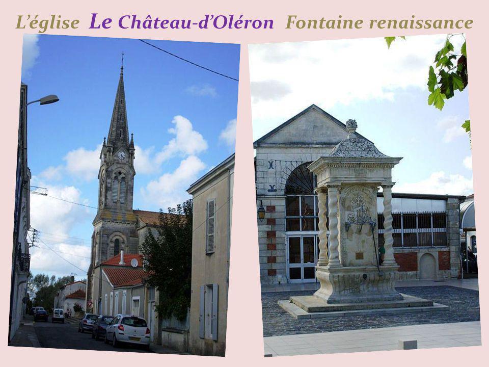 L'église Le Château-d'Oléron Fontaine renaissance