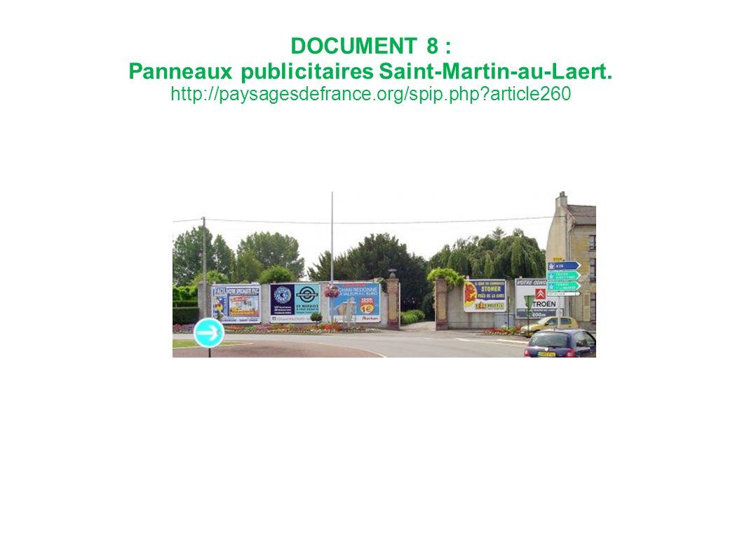DOCUMENT 8 : Panneaux publicitaires Saint-Martin-au-Laert