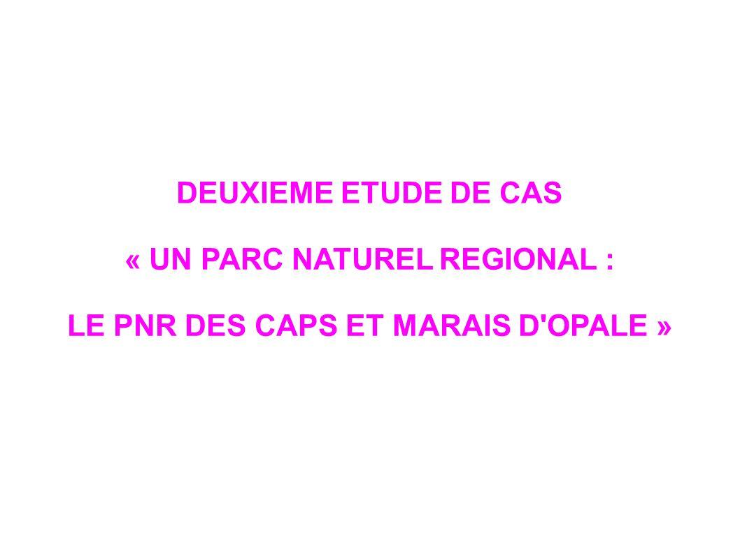« UN PARC NATUREL REGIONAL : LE PNR DES CAPS ET MARAIS D OPALE »