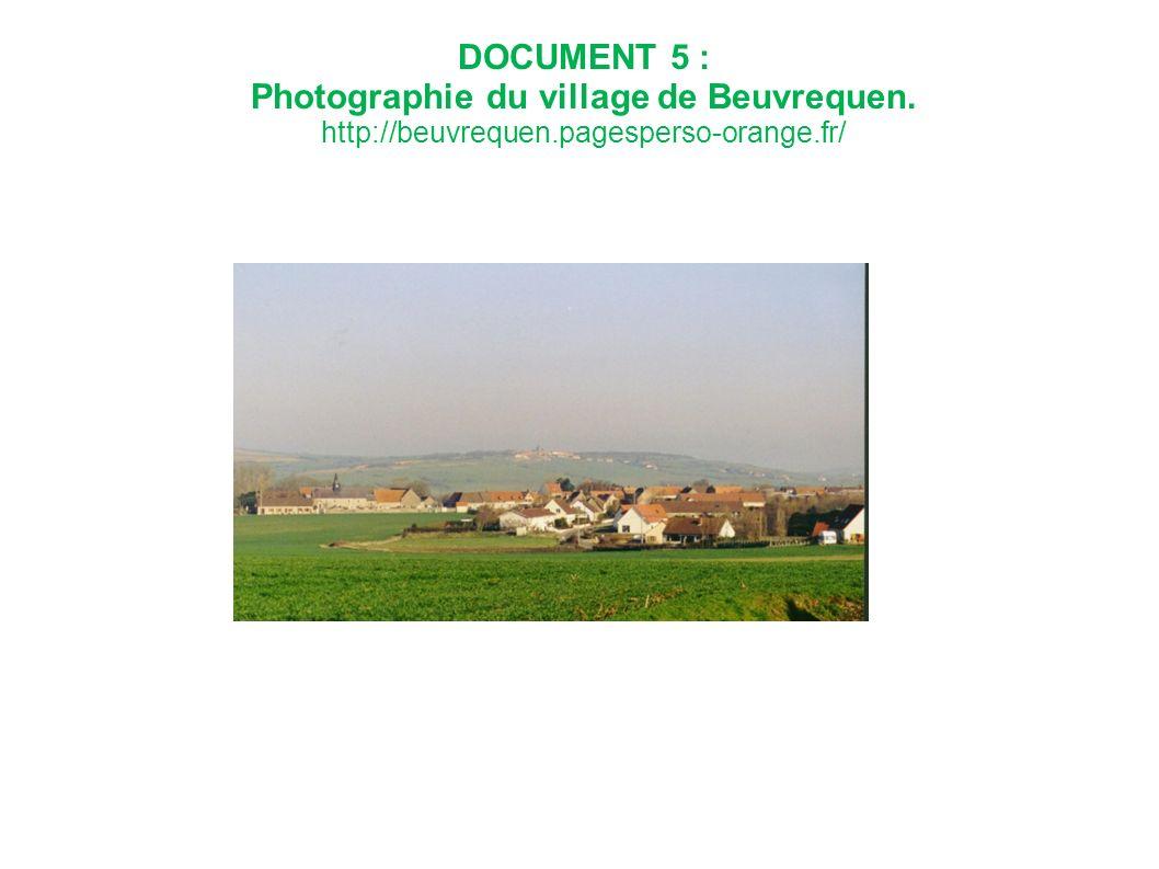 Photographie du village de Beuvrequen.
