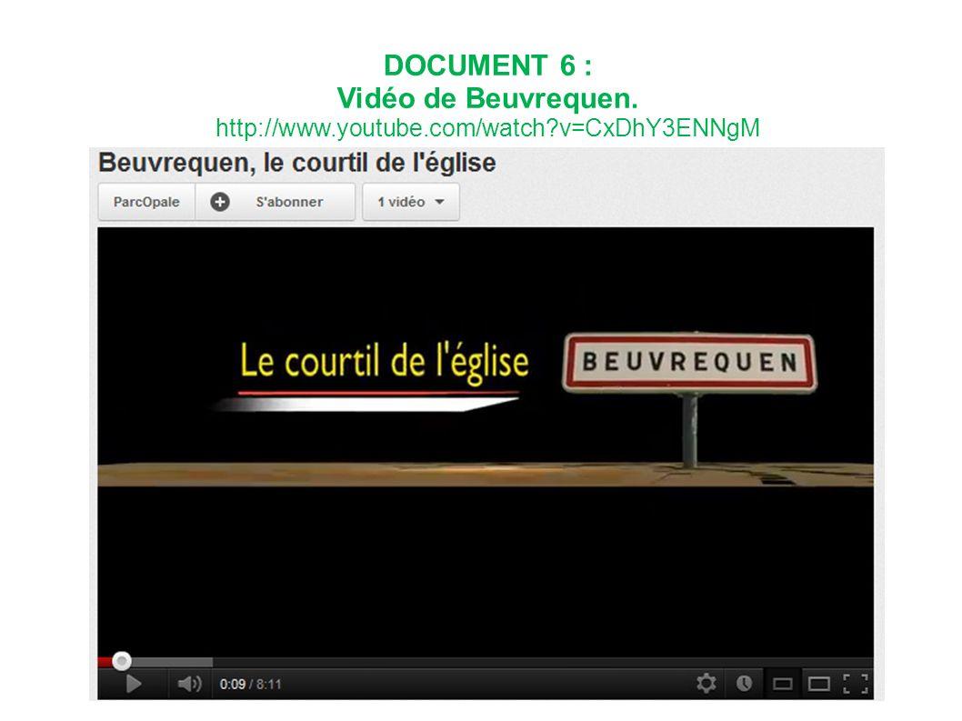 DOCUMENT 6 : Vidéo de Beuvrequen.