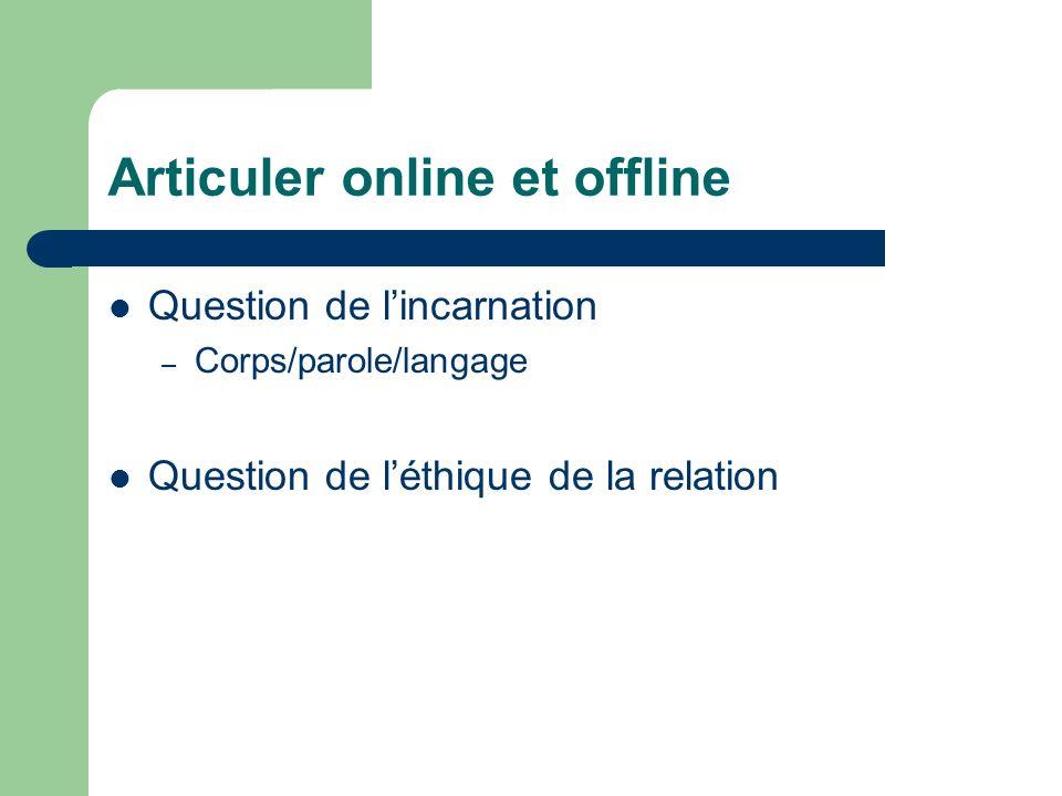 Articuler online et offline
