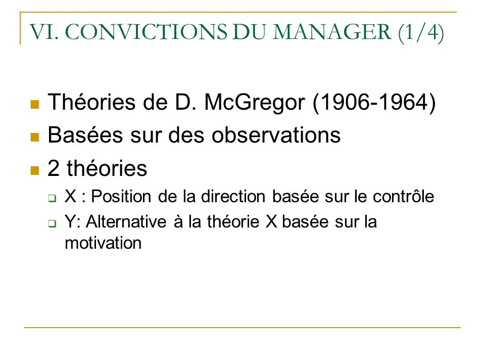 VI. CONVICTIONS DU MANAGER (1/4)