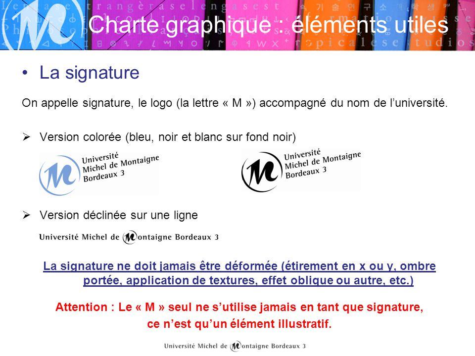 Charte graphique : éléments utiles