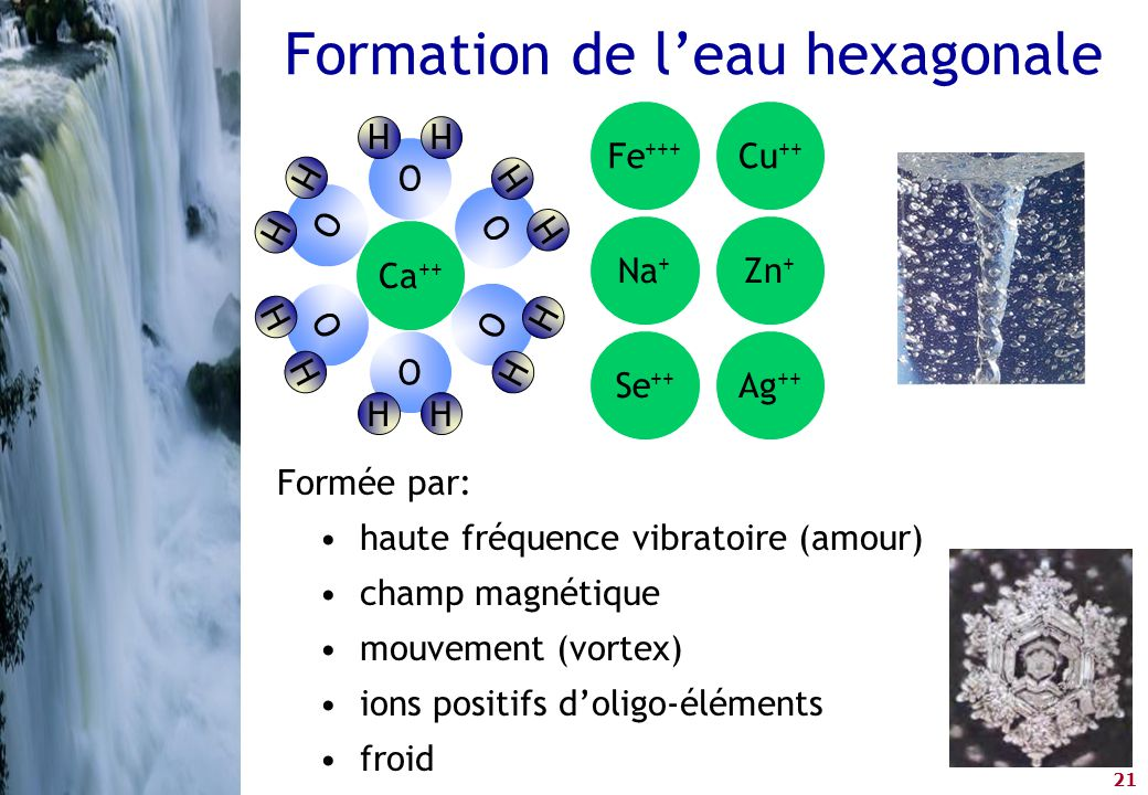 Formation de l'eau hexagonale