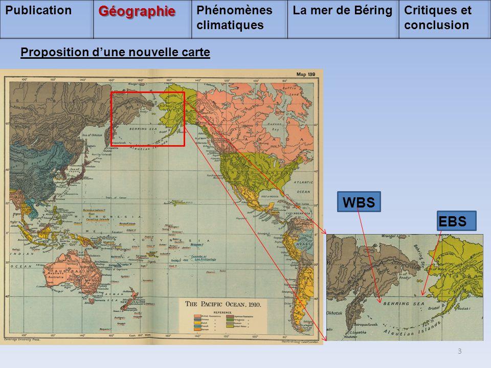 Géographie WBS EBS Publication Phénomènes climatiques La mer de Béring