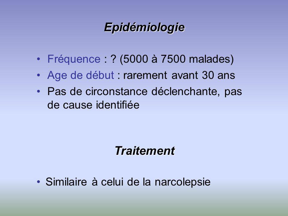 Epidémiologie Traitement