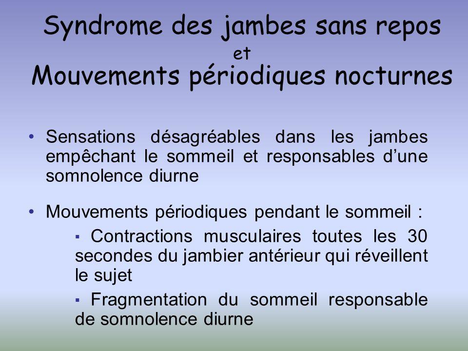Syndrome des jambes sans repos et Mouvements périodiques nocturnes
